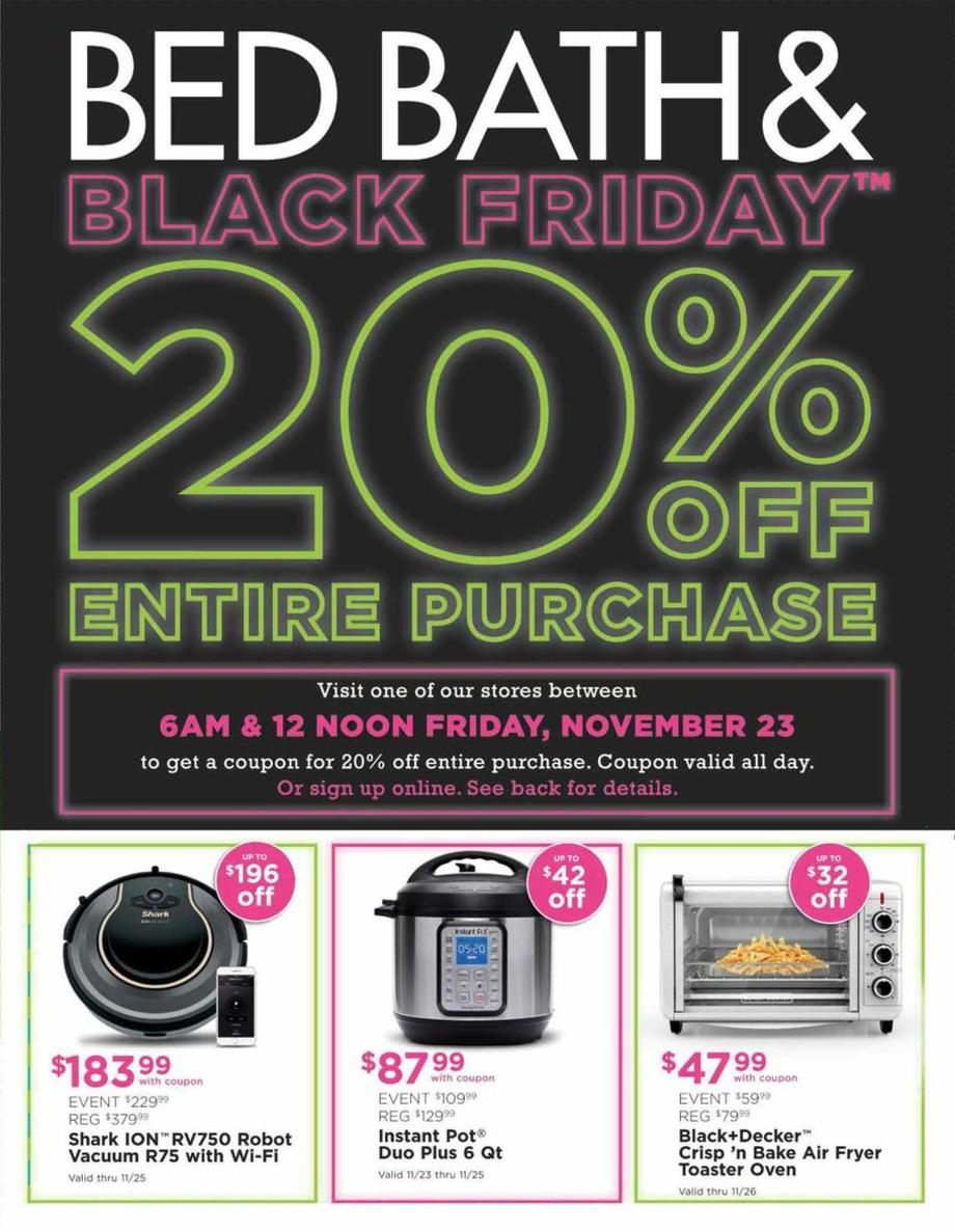Bed Bath & Beyond Black Friday 2018 Page 1