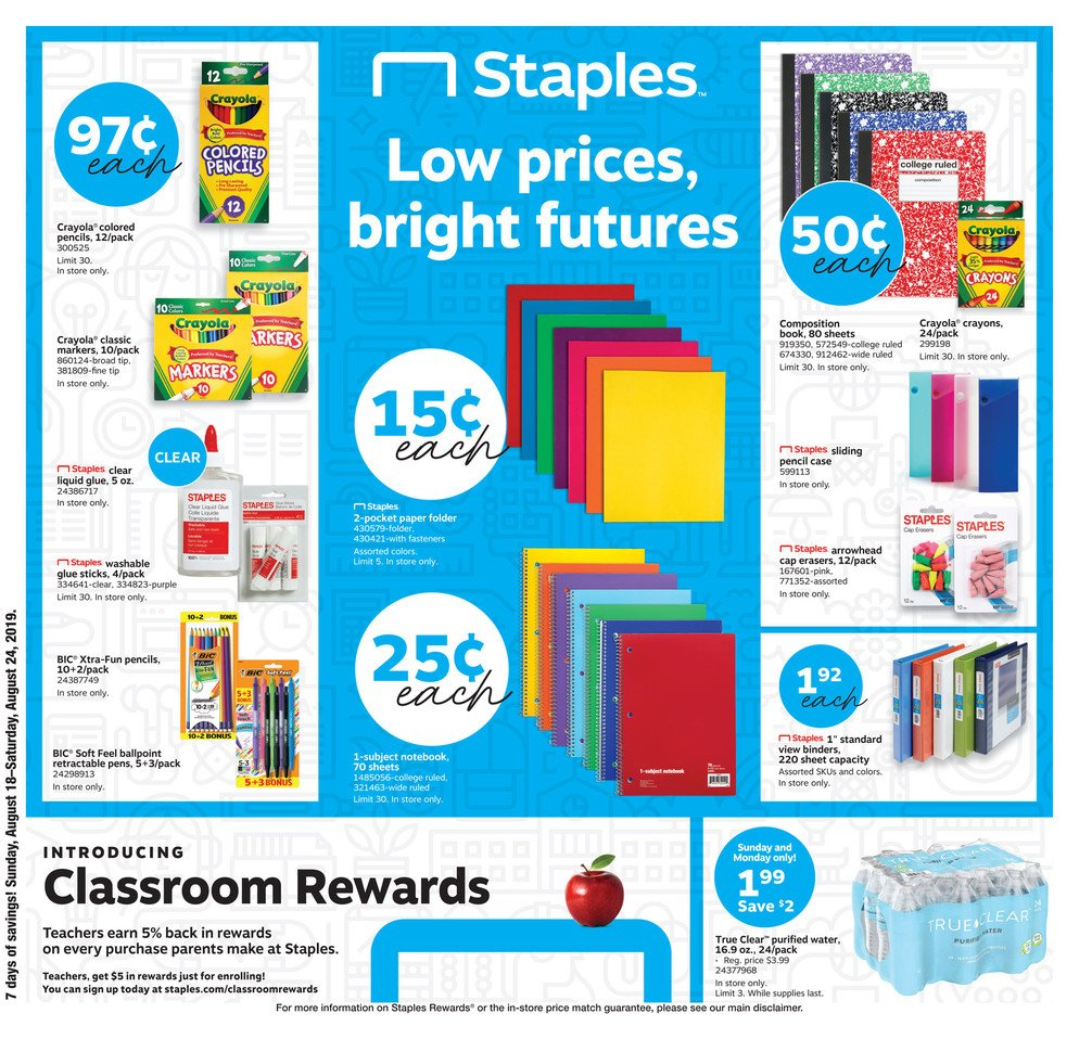Staples Weekly August 18 - 24, 2019 Page 1