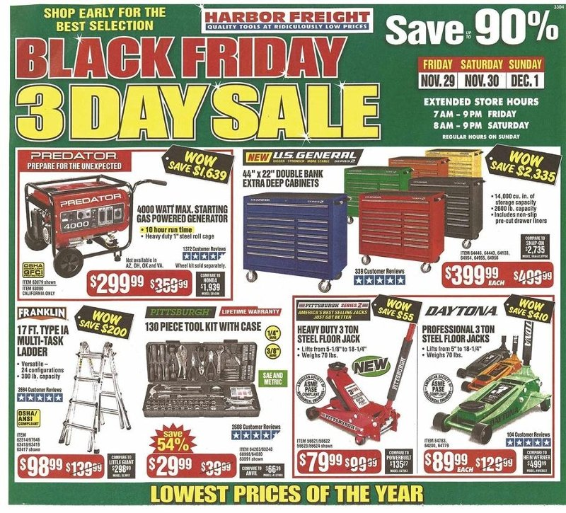Harbor Freight Black Friday 2019 Page 1