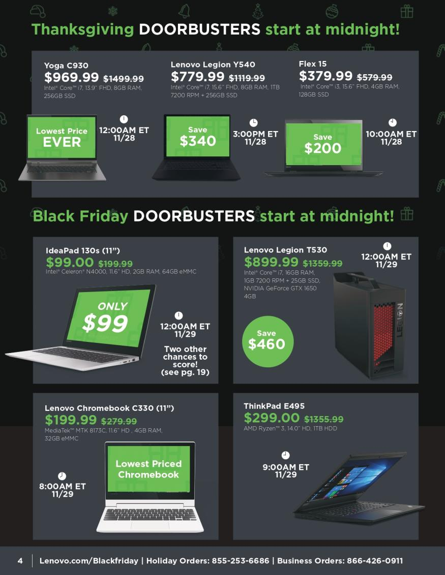 Lenovo Black Friday and Cyber Monday 2019 Page 4
