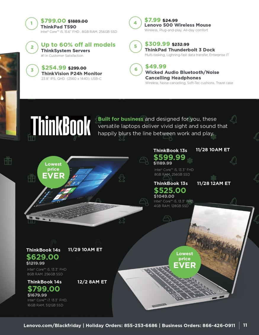 Lenovo Black Friday and Cyber Monday 2019 Page 11
