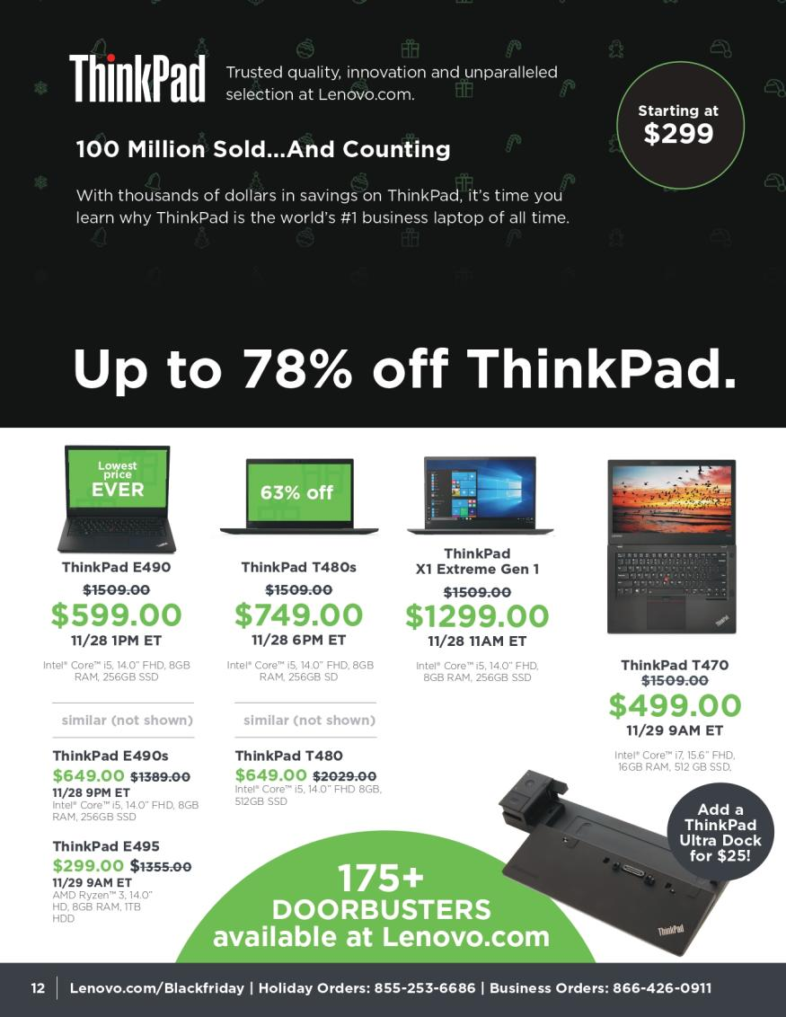 Lenovo Black Friday and Cyber Monday 2019 Page 12