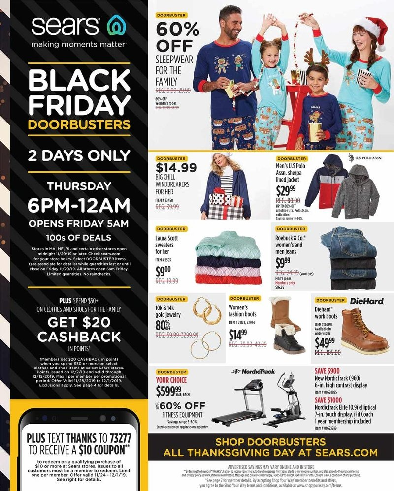 Sears Black Friday 2019 Page 1