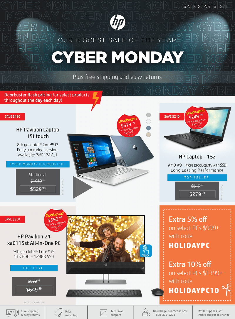 HP Cyber Monday 2019 Page 1