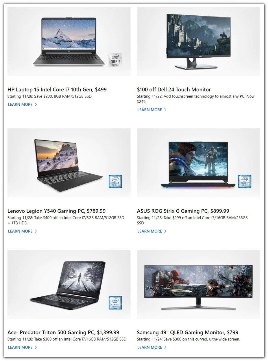 Microsoft Black Friday 2019 Page 3