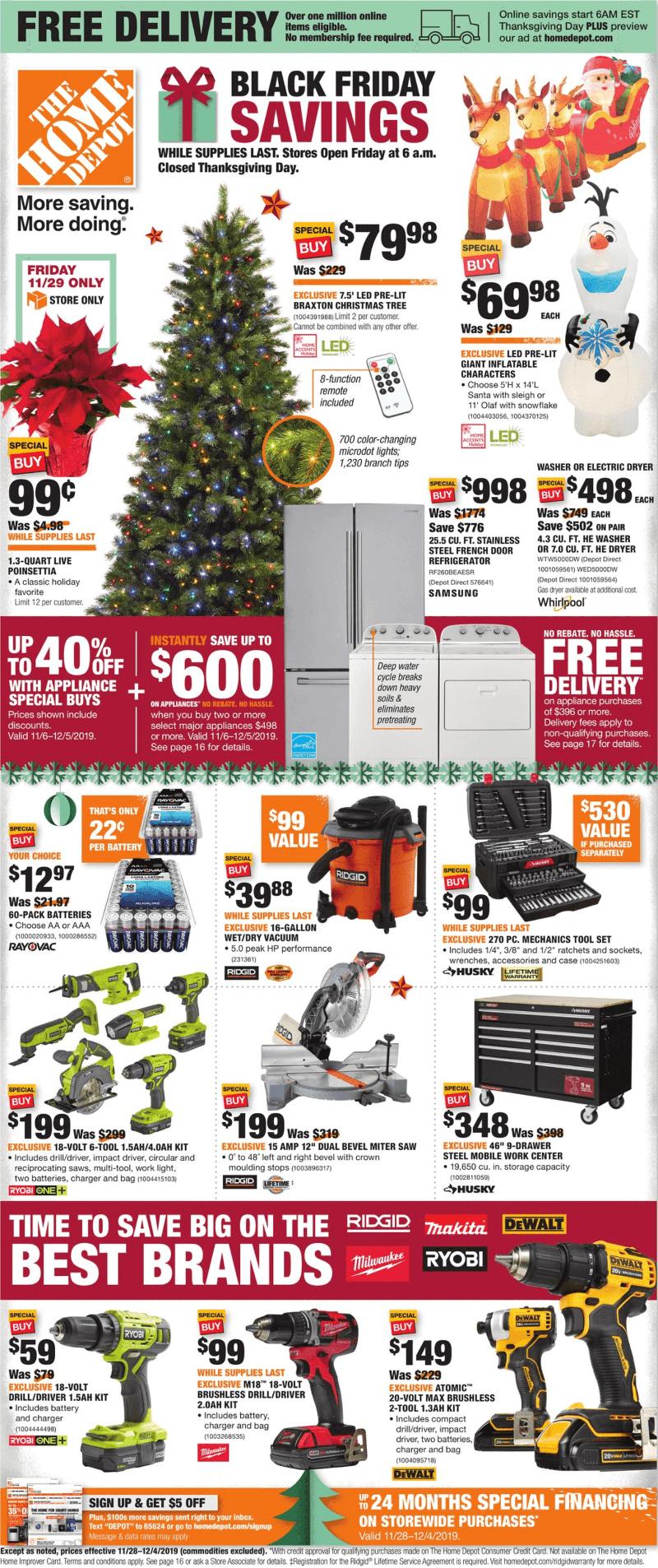 Black Friday 2020 Artificial Christmas Tree Deals Home Depot Black Friday 2020 Ad   Savings.com