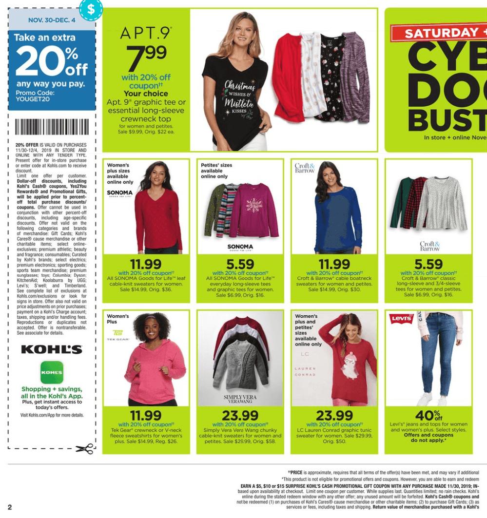 Kohl's Cyber Monday 2019 Page 2
