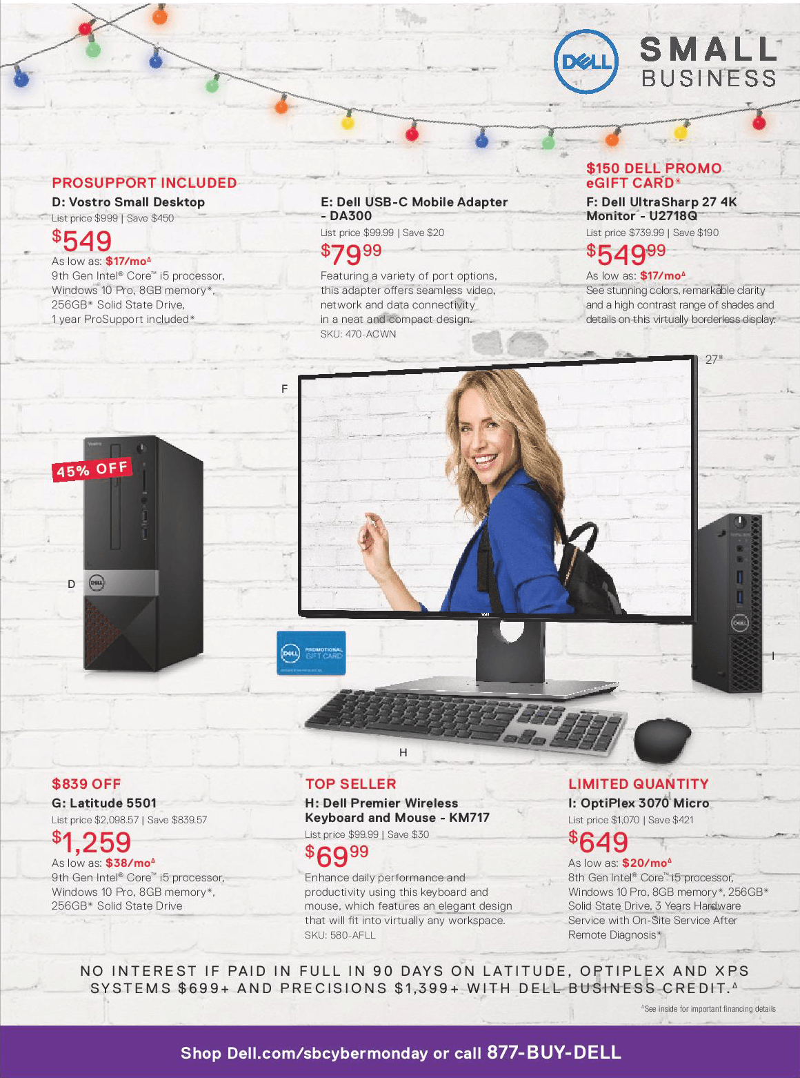 Dell Small Business Cyber Monday 2019 Page 3