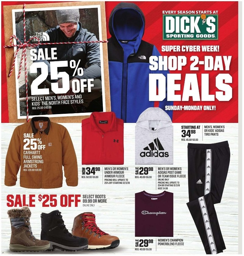 Dick's Sporting Goods Cyber Monday 2019 Page 1