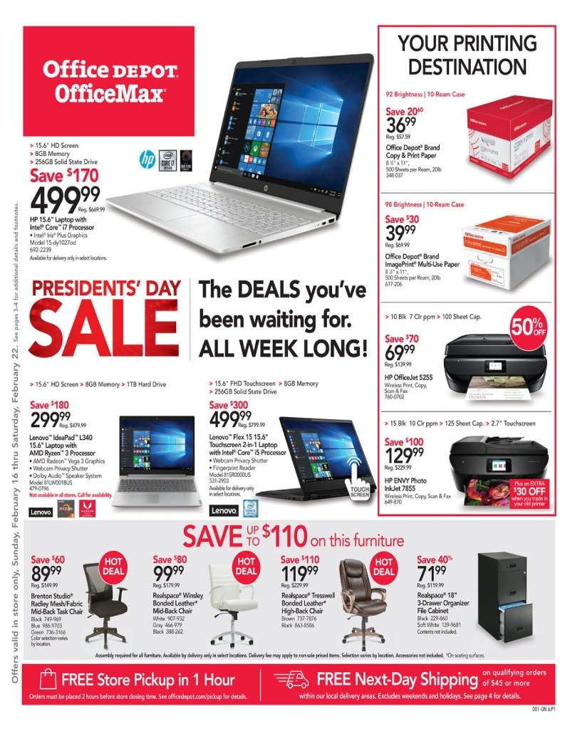 Office Depot and OfficeMax Weekly February 16 - 22, 2020 Page 1