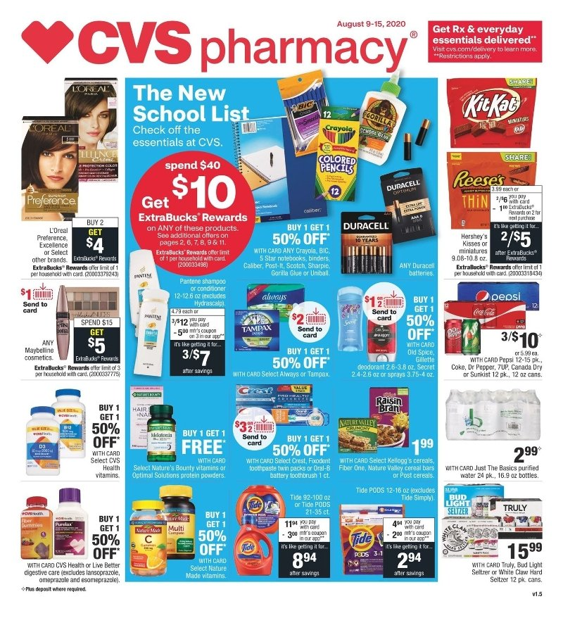 CVS Weekly August 9 - 15, 2020 Page 1