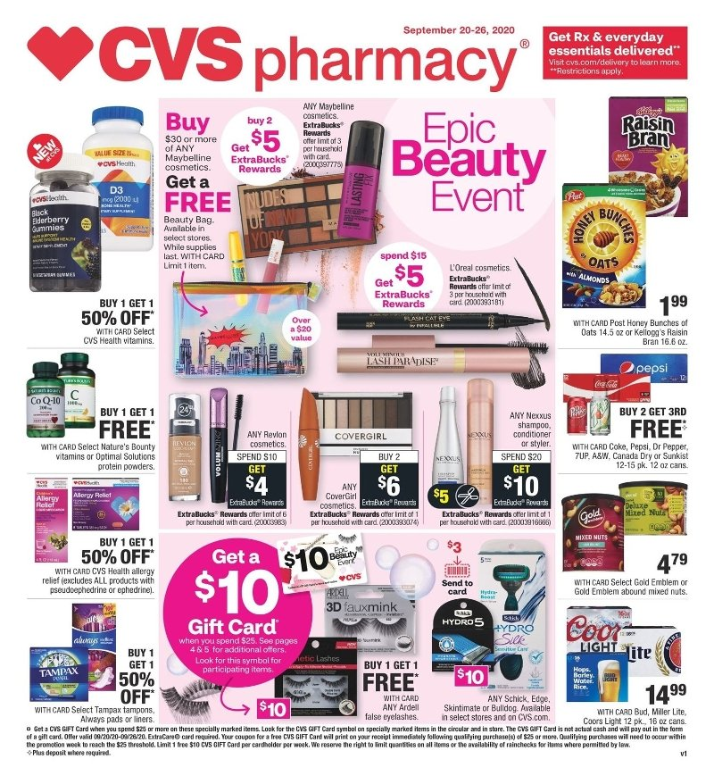 CVS Weekly September 20 - 26, 2020 Page 1