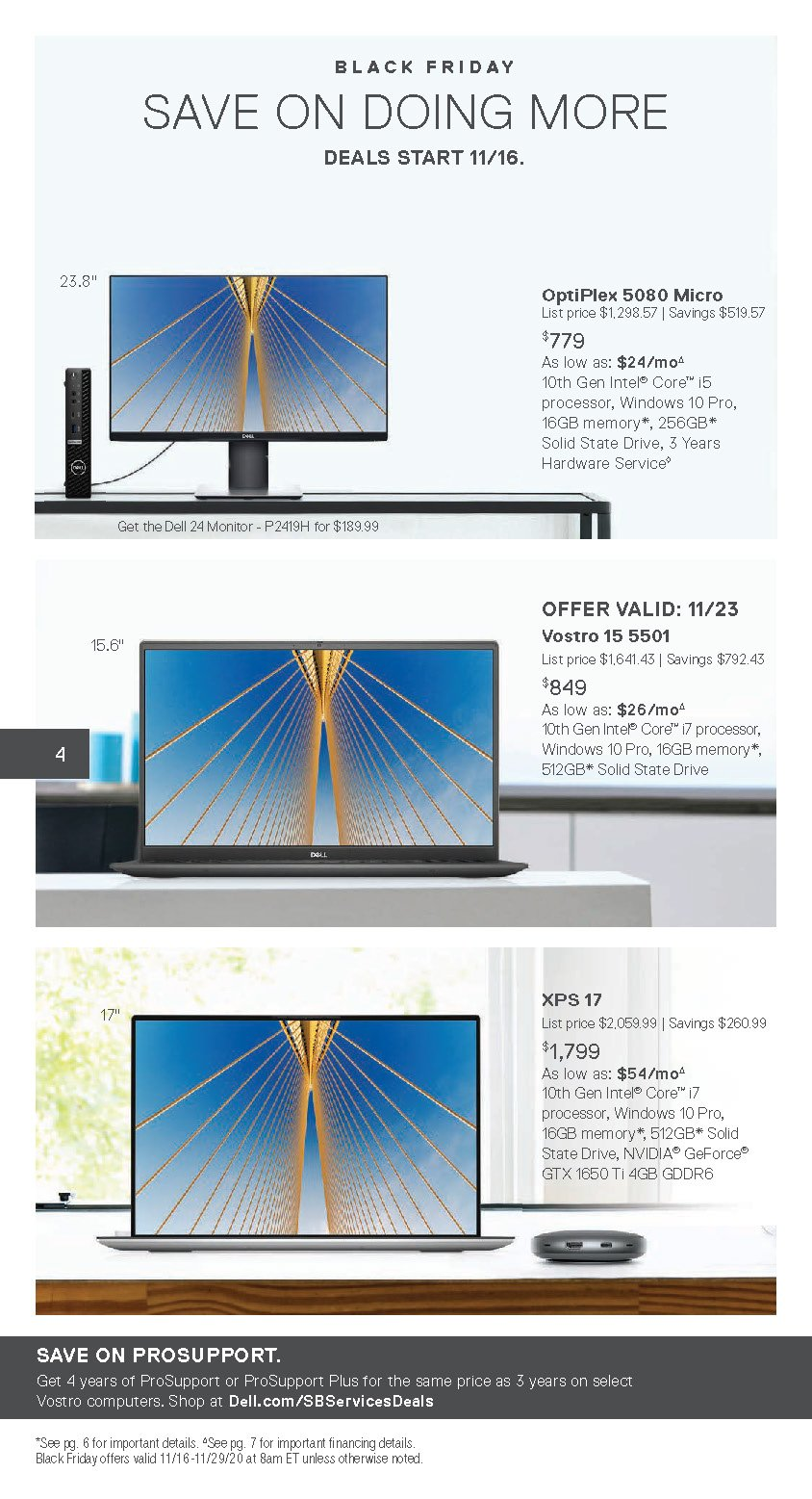 Dell Small Business Black Friday 2020 Page 4