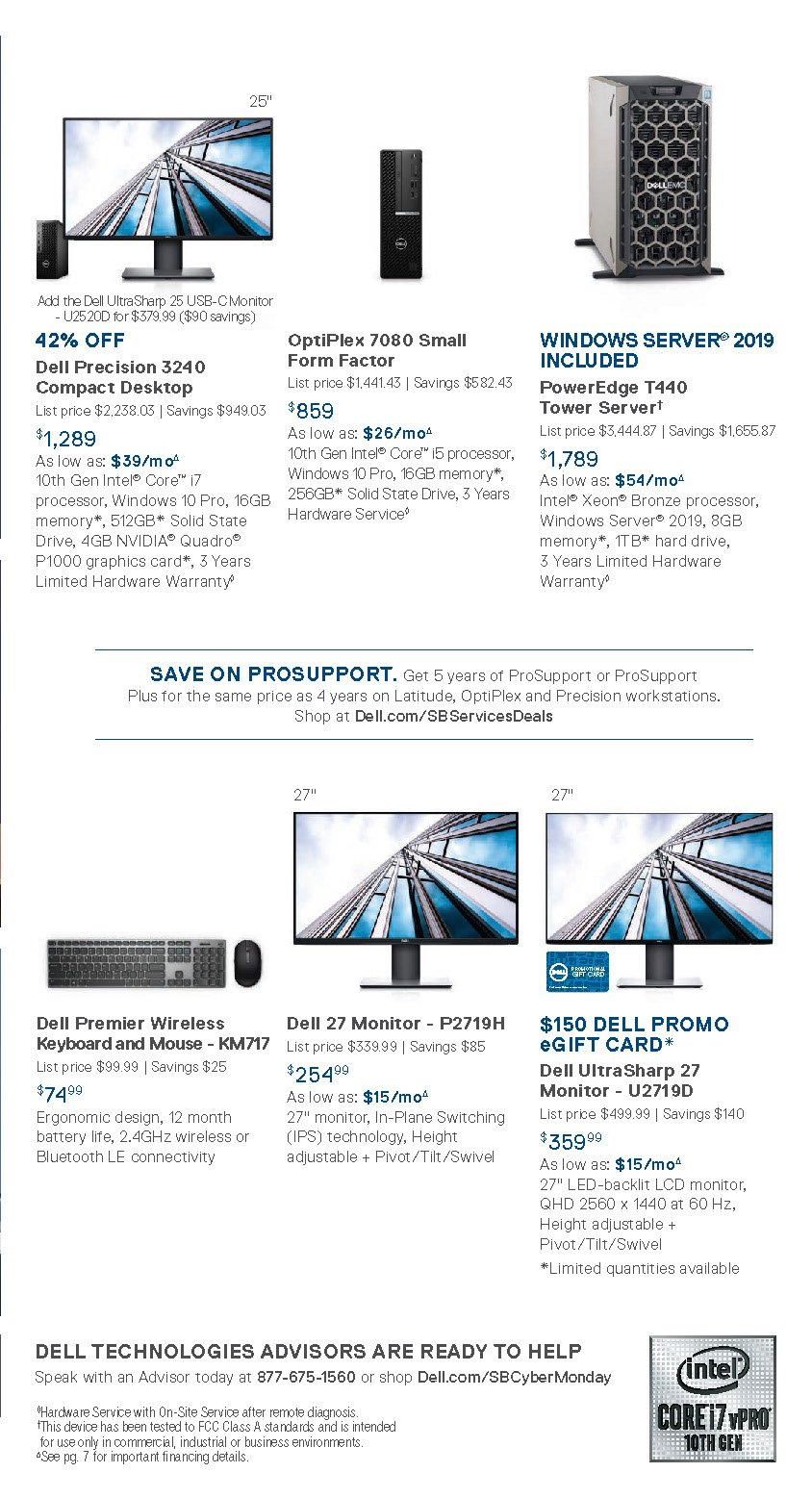 Dell Small Business Cyber Monday 2020 Page 4