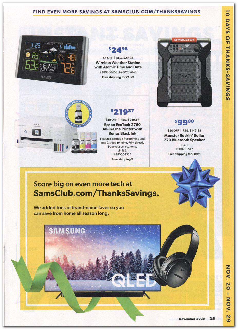 Sam's Club Black Friday 2020 Page 7