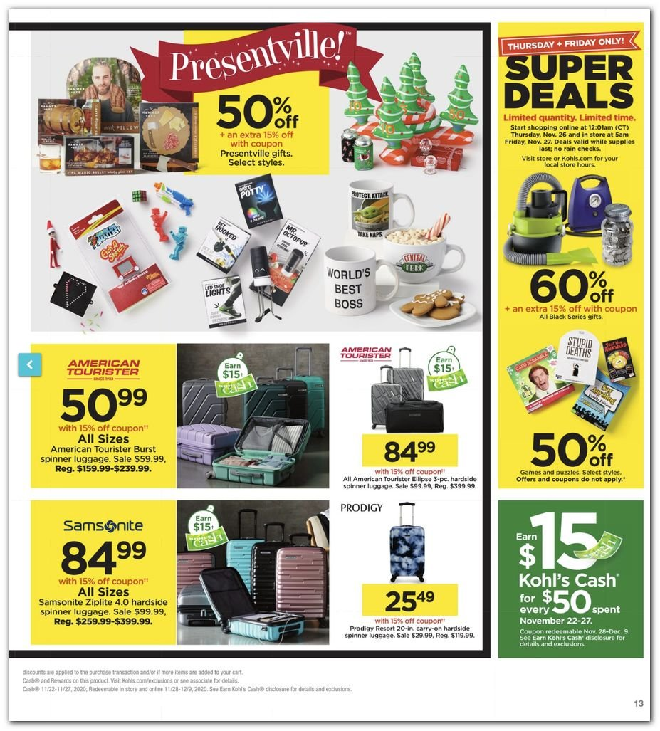 Kohl's Black Friday Super Deals 2020 Page 13
