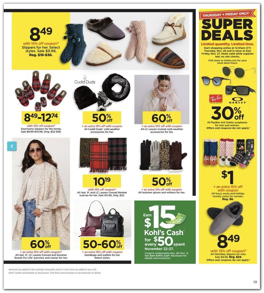 Kohl's Black Friday Super Deals 2020 Page 19