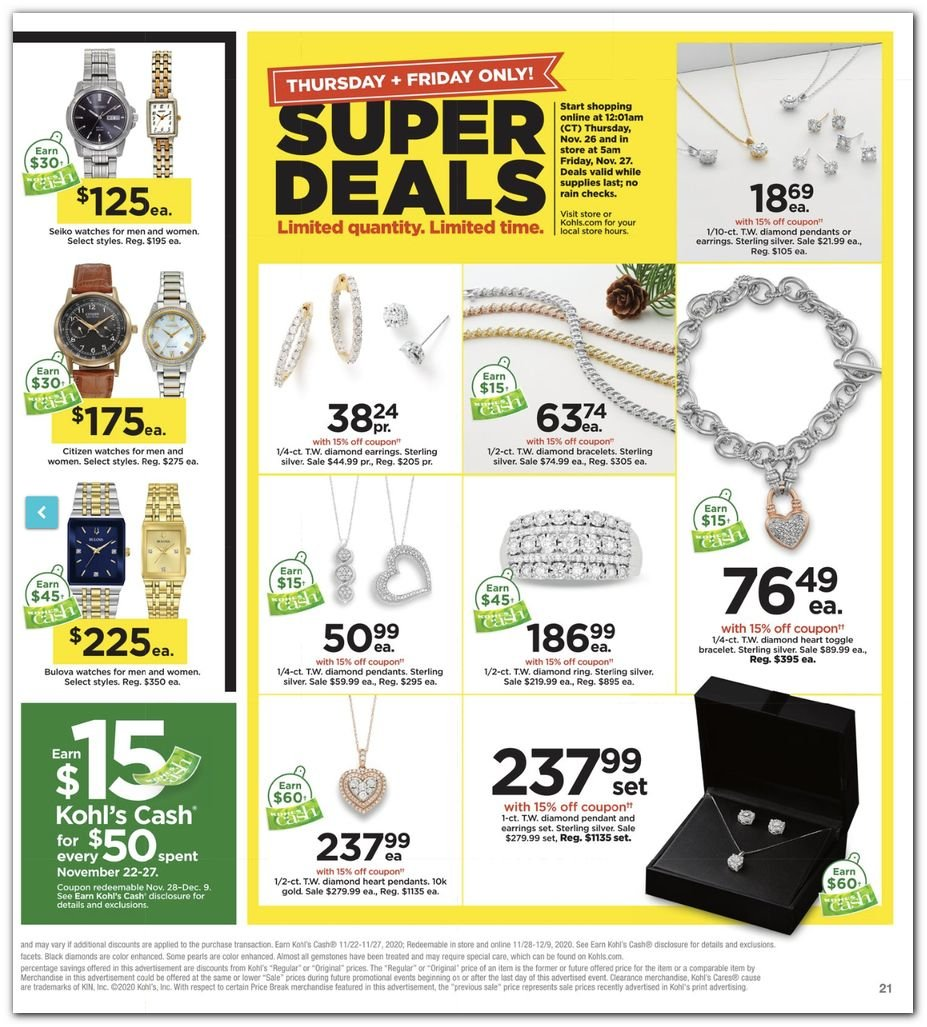 Kohl's Black Friday Super Deals 2020 Page 21