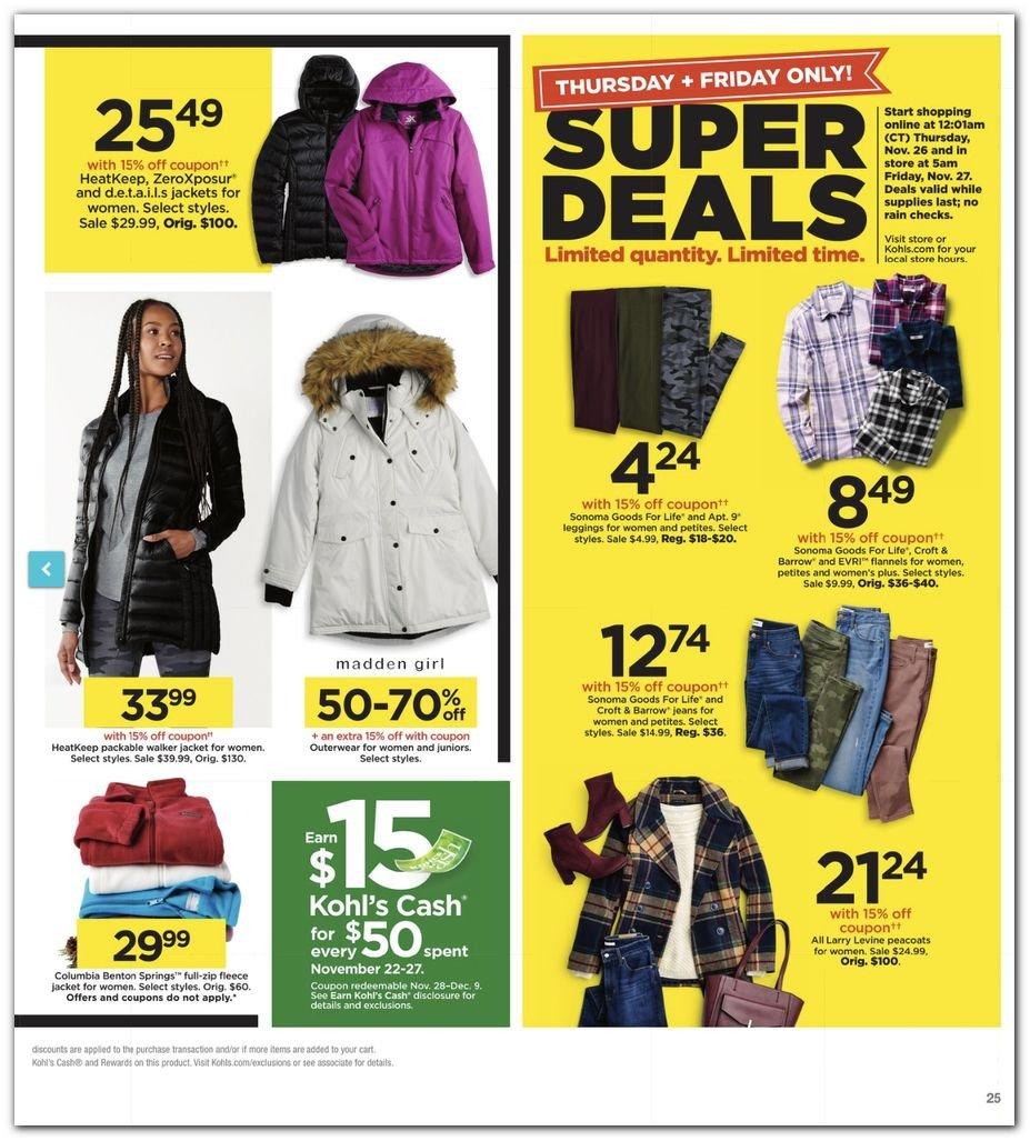 Kohl's Black Friday Super Deals 2020 Page 25