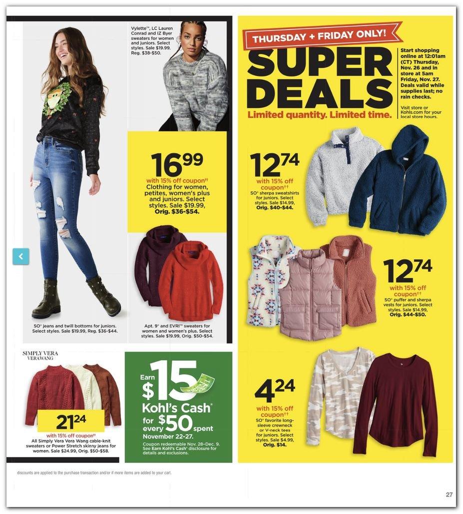 Kohl's Black Friday Super Deals 2020 Page 27