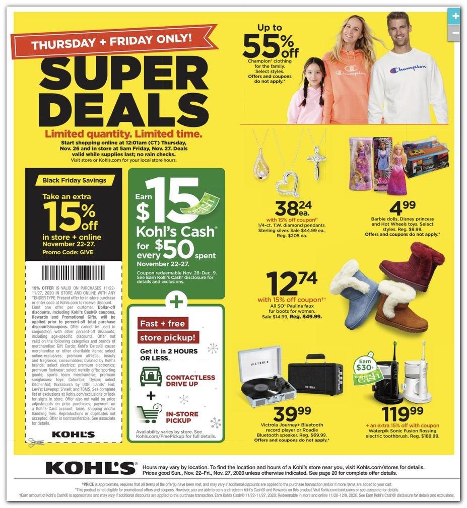 Kohl's Black Friday Super Deals 2020 Page 32