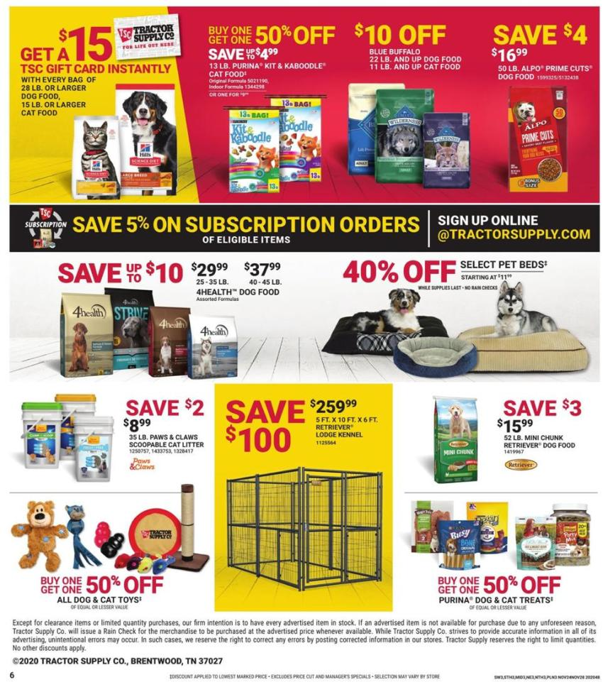Tractor Supply Co. Black Friday 2020 Page 6