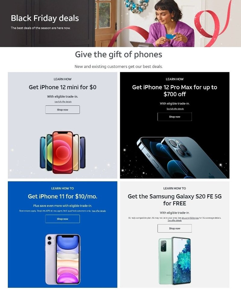AT&T Wireless Black Friday 2020 Page 1