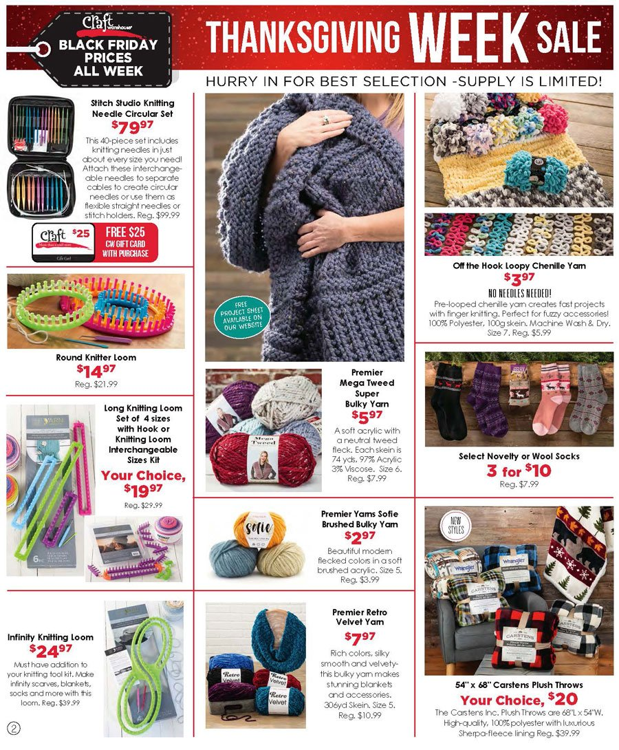 Craft Warehouse Black Friday 2020 Page 2