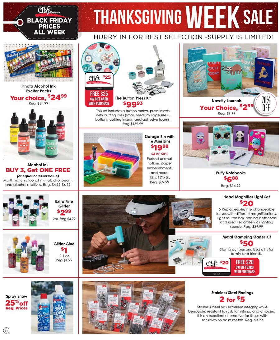 Craft Warehouse Black Friday 2020 Page 6