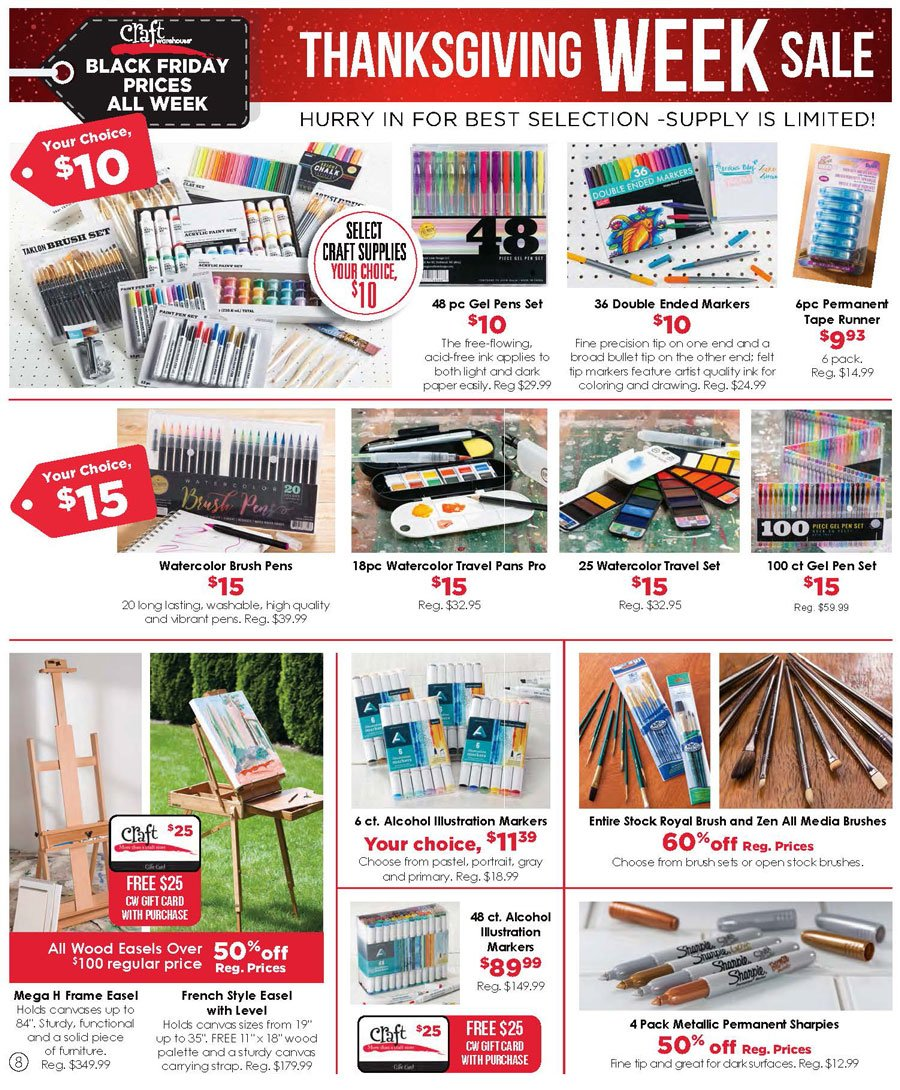 Craft Warehouse Black Friday 2020 Page 8