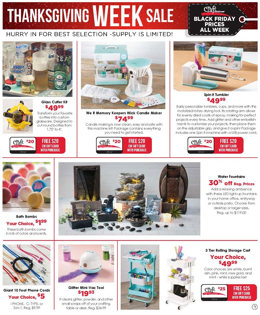 Craft Warehouse Black Friday 2020 Page 9