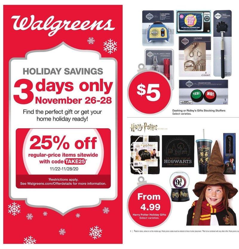 Walgreens Black Friday 2020 Page 1
