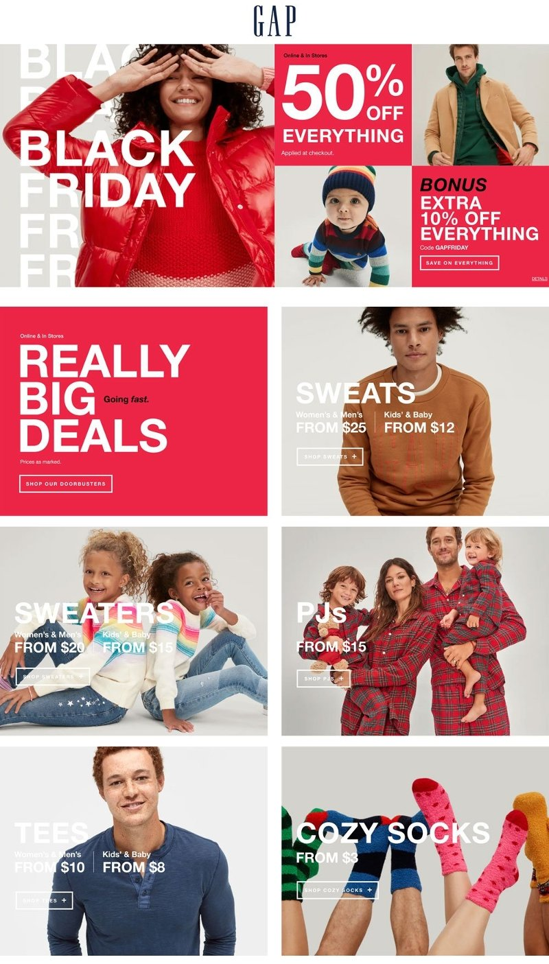 GAP Black Friday 2020 Page 1