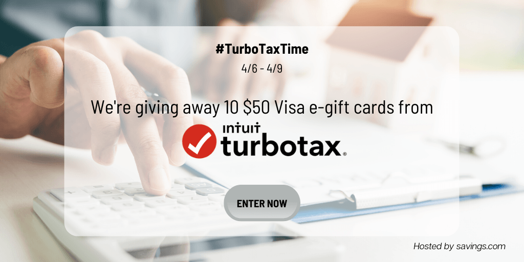 Win a $50 Visa e-gift card from TurboTax!