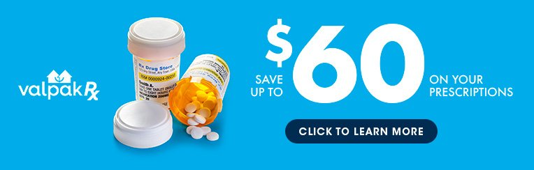 Save on prescription costs with ValpakRx!