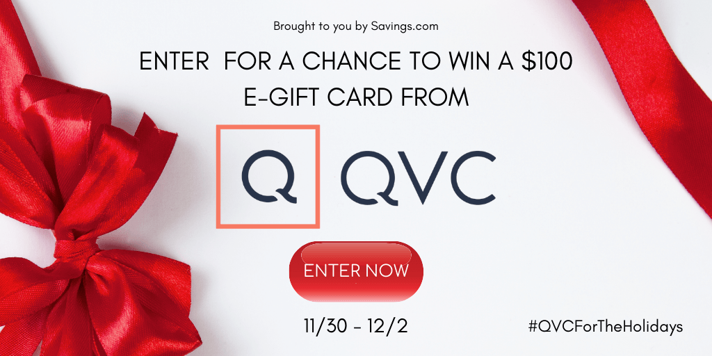 Win a $100 e-gift card from QVC.