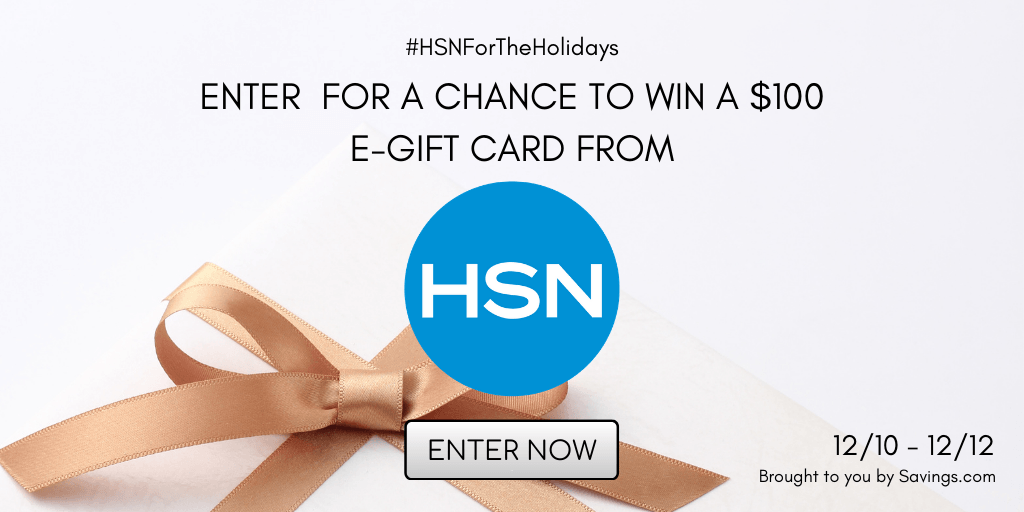 Win a $100 e-gift card from HSN.